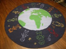 NEW 200CMX200CM WORLD RUGS/MATS HOME/SCHOOL EDUCATIONAL NON SILP BEST SELLER